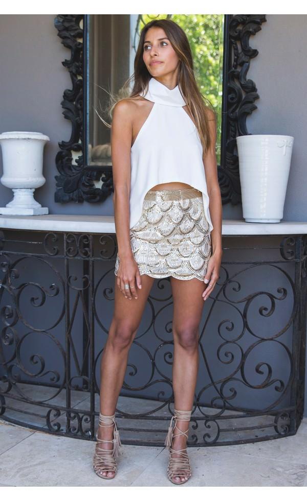 skirt mermaid white 06.16